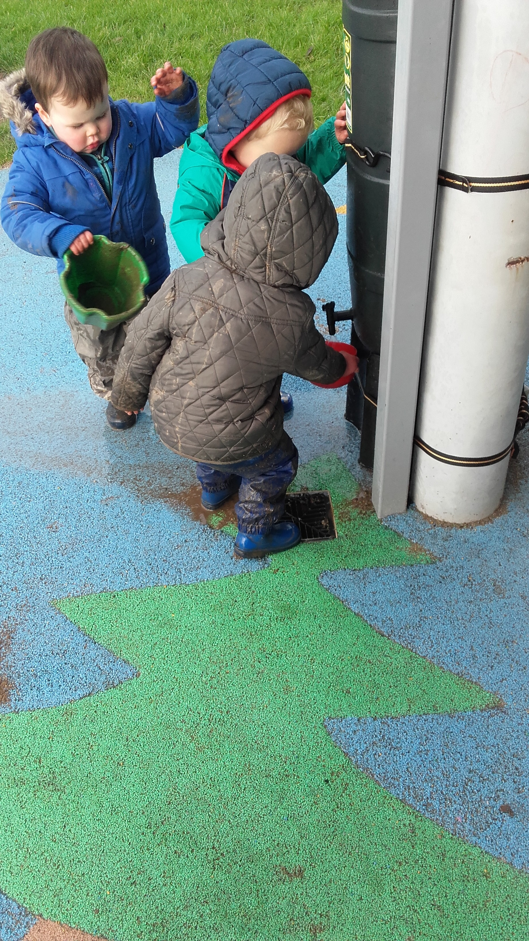 Water play at Crawford Childcare
