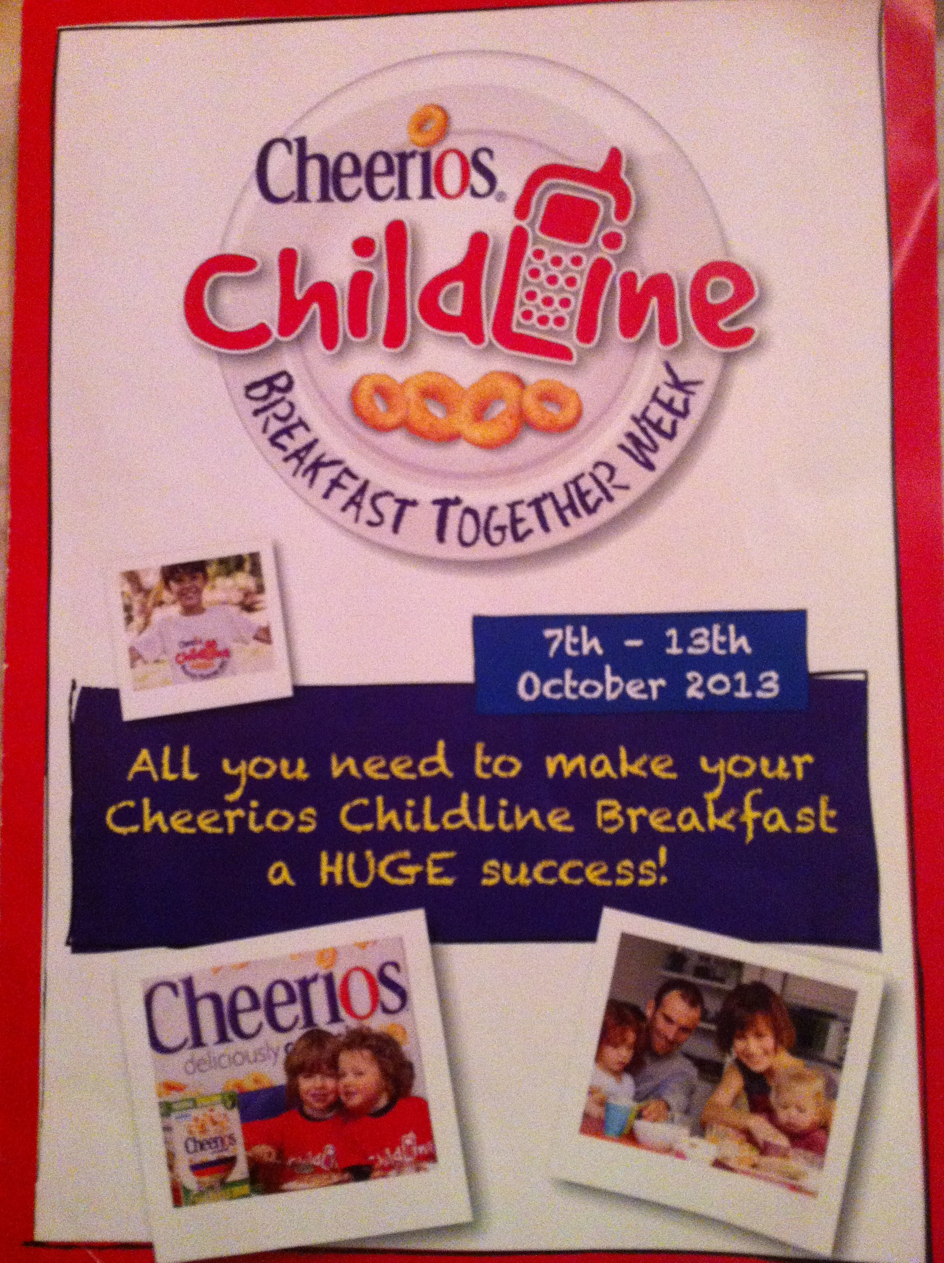 Cheerios Childline Breakfast at Crawford Childcare